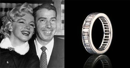Marilyn Monroes wedding ring from Joe DiMaggio Her wedding band