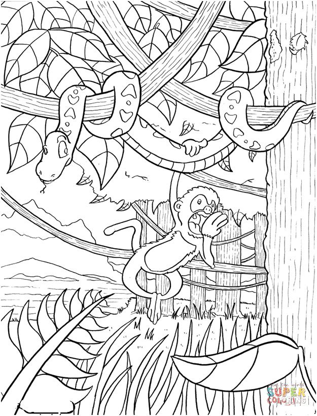 Coloriage La Foret Tropicale.Foret Tropicale Dessin Sieg In 2019 Sketches