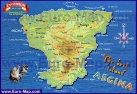 Podrobnaya Turisticheskaya Karta Ostrova Egina Karta Ostrova Greciya