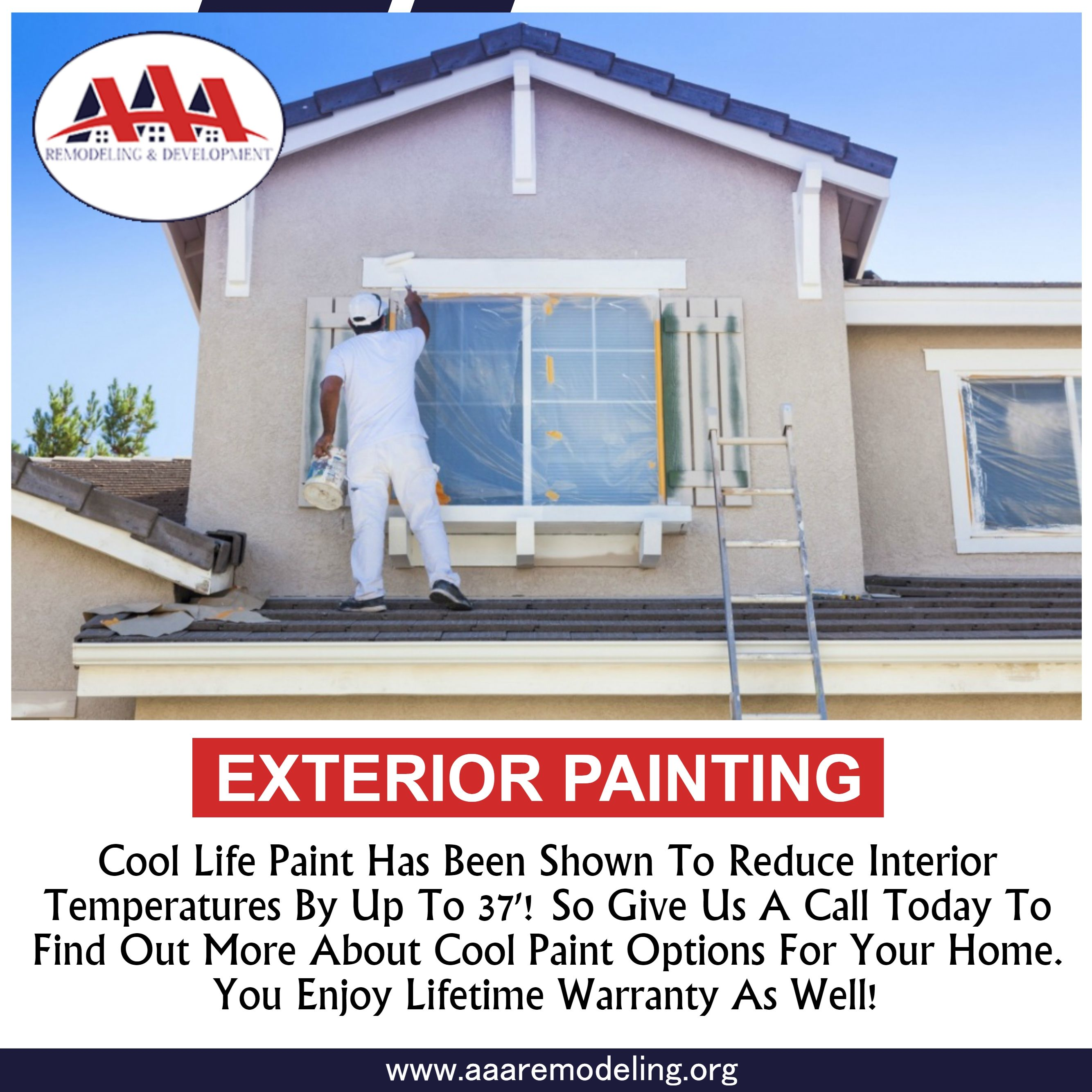 Exterior Painting Cool Life Paint Has Been Shown To Reduce Interior Temperatures By Up To 37 So Give Us Exterior Paint House Paint Exterior House Temperature