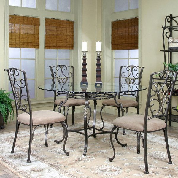 Wescott 5pc Dining Set Adams Furniture Dining Room Glass