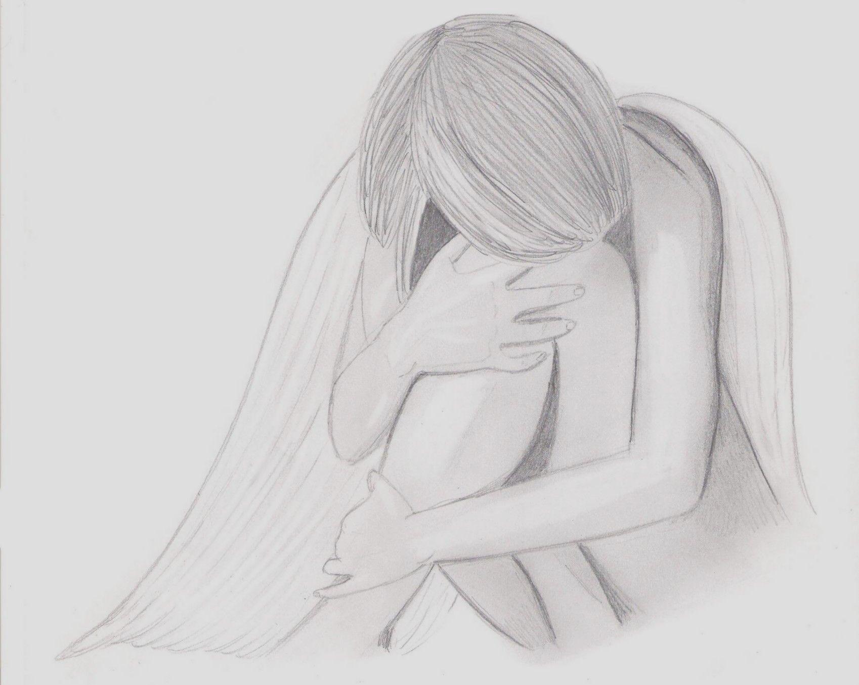 Dessin ange triste draw drawings et printables - Dessin triste ...
