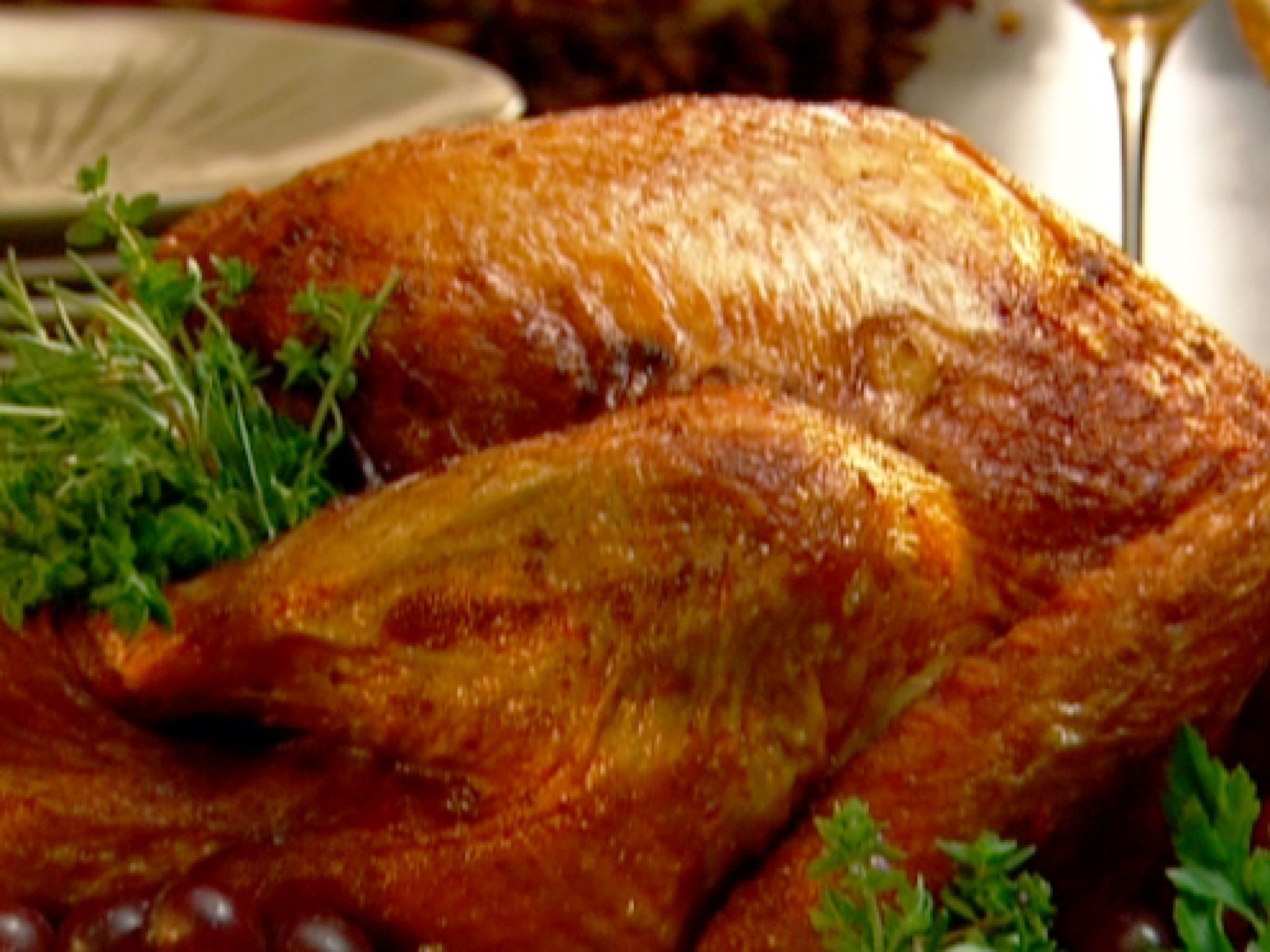 Neelys deep fried turkey recipe deep fry turkey turkey dinners neelys deep fried turkey recipe from patrick and gina neely via food network forumfinder Choice Image