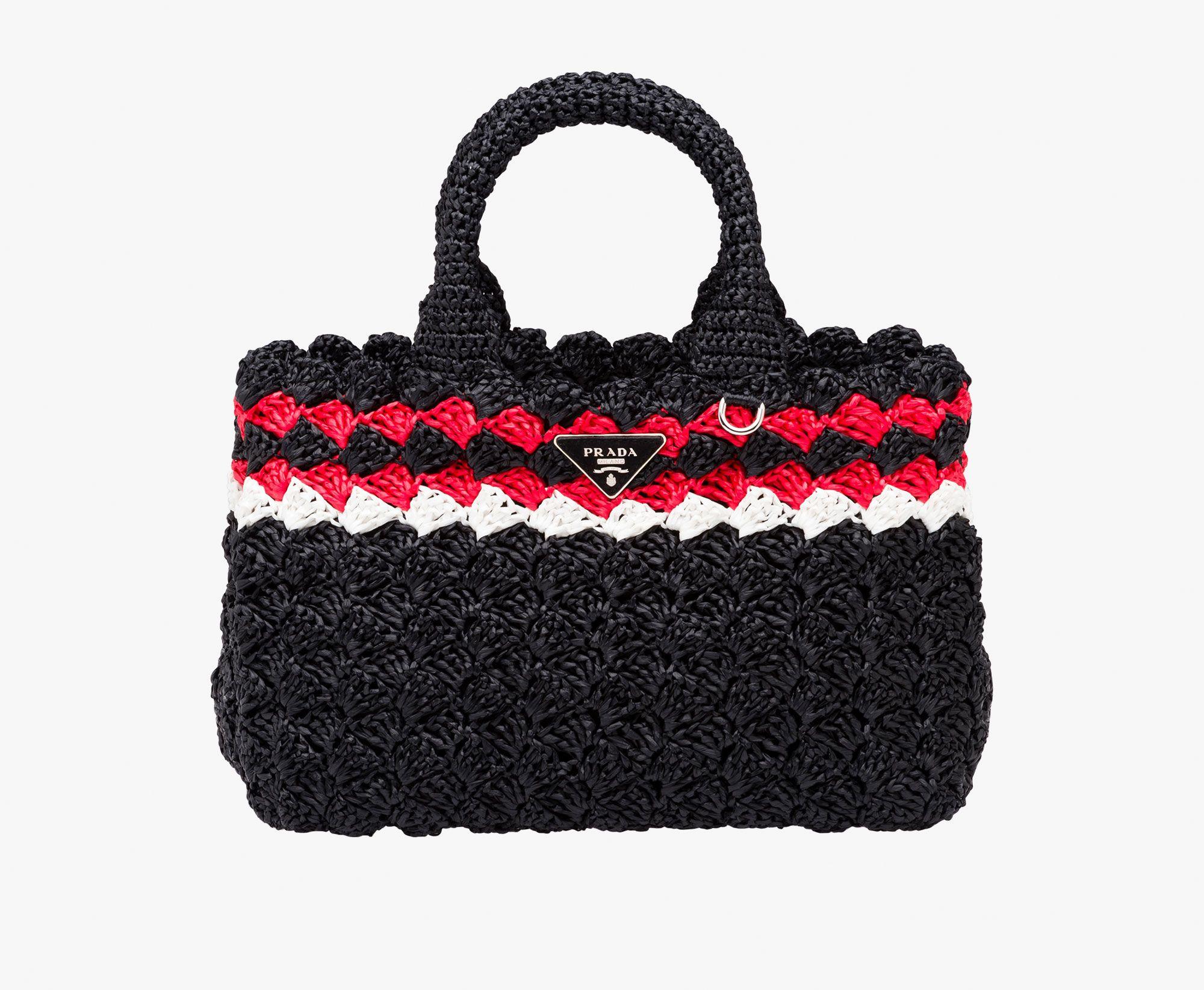 9497cdd694 Prada Raffia shopper | PRADA bags | Borse all'uncinetto, Borse, Prada