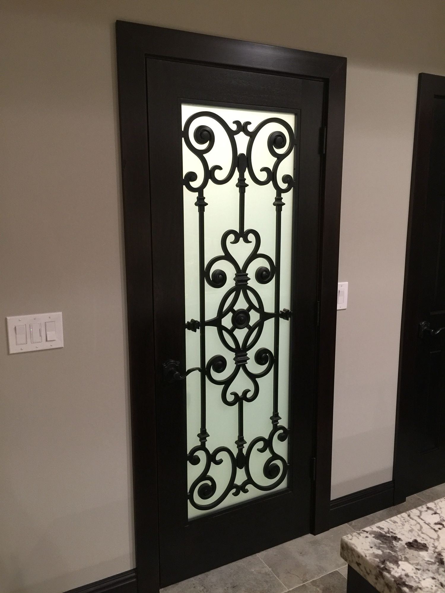 Wrought Iron Pantry Door Pantry Door Door Color Doors