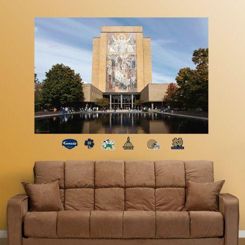 Notre Dame Touchdown Jesus mural Pinterest Mural wall Notre