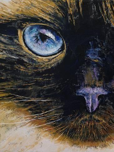 Burmese Cat Giclee Print Michael Creese Art Com Burmese Cat Art Cat Art