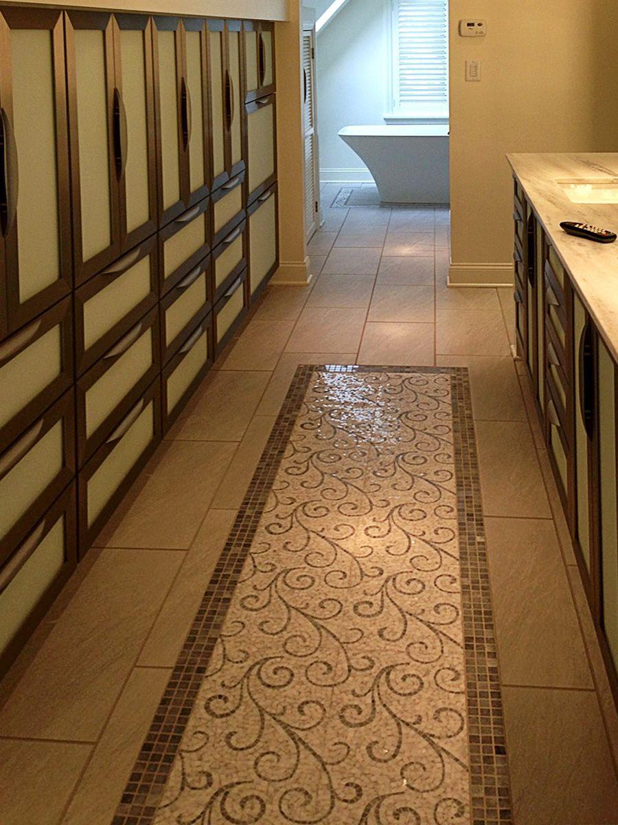 Not a carpet but a mosaic tile bathroom runner flooring and not a carpet but a mosaic tile bathroom runner doublecrazyfo Images