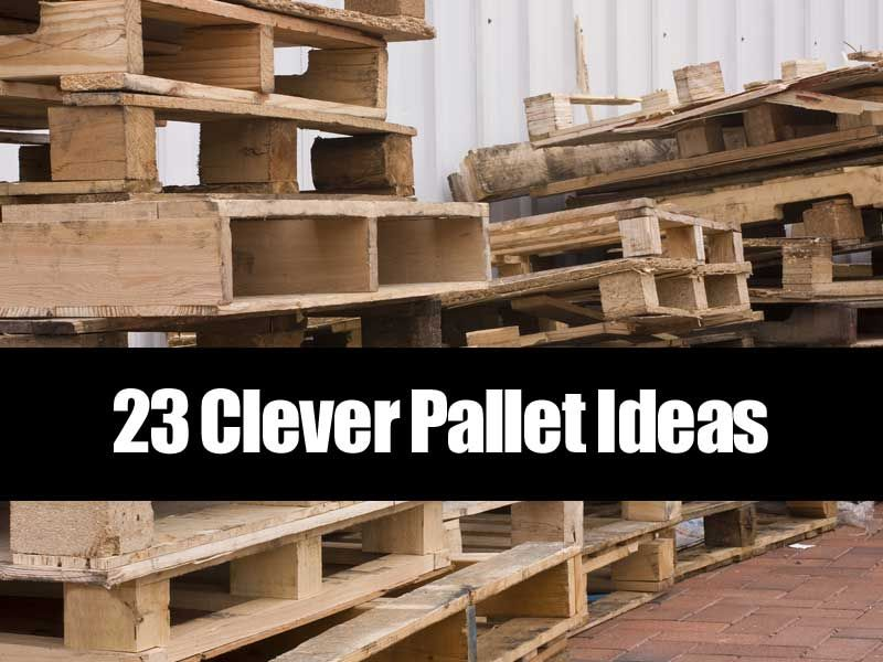 Wooden pallets are one of the most common things that get for Making things with wooden pallets
