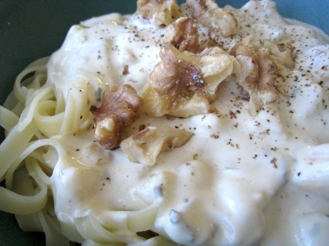 Here's Jenni's pear-blue cheese pasta with walnuts. It' sounds super yummy.