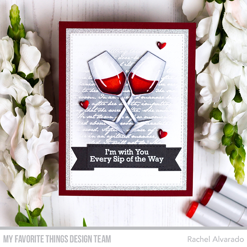 Romantic Things To Do On New Years Eve: Stamps: A Toast To You, Romantic Script Background Die