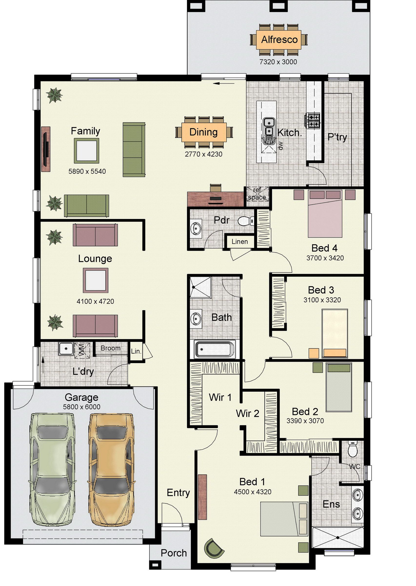 The Erskine 290 Is One Of Our Most Popular Designs Hotondo Homes Square House Plans House Floor Plans