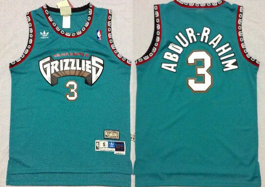 0169fe505d7 Memphis Grizzlies #3 Shareef Abdur-Rahim ABA Hardwood Classics Green  Throwback Swingman Jersey
