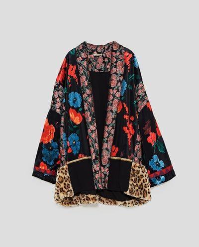 9d53ac04d KIMONO TEXTURAS-CAZADORAS-MUJER | ZARA España | woman | kimono en ...