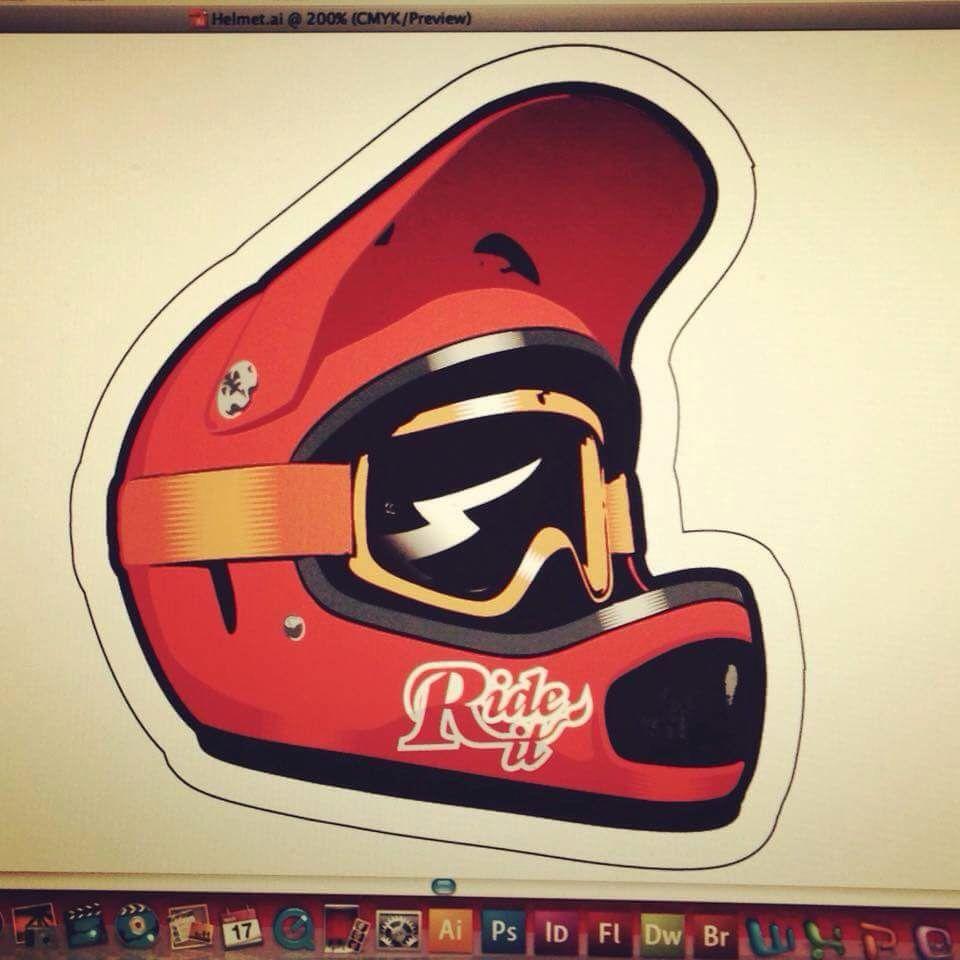 Sticker design for mountain bike - New Sticker Design Sticker Mtb Helmet Vector Rideit Rideitclothing