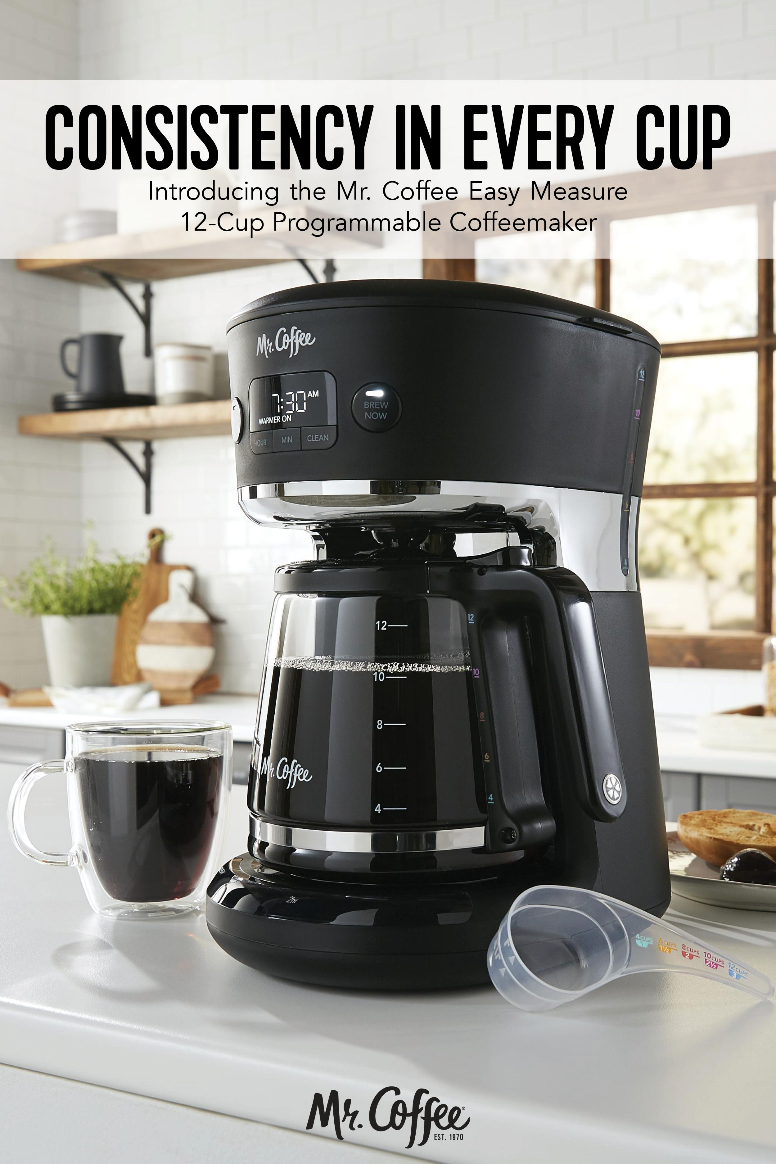 Mr Coffee Easy Measure 12 Cup Programmable Coffee Maker Black In 2020 Camping Coffee Maker Coffee Maker Best Coffee Maker
