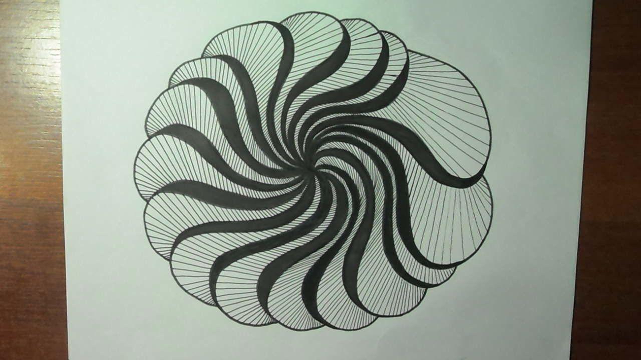 Dibujo Creativo Ejercitando Con Lineas Curvas Y Lineas Rectas