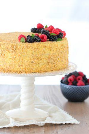Napoleon Cake - Olga's Flavor Factory #napoleonkuchenrussisch