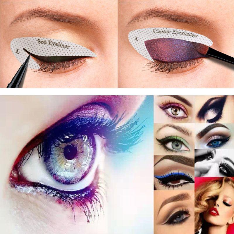 4pcs/lot For 10 Styles Quick Makeup Cat Eyeliner Smokey