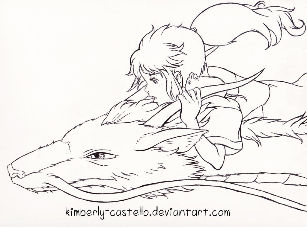 Spirited Away Chihiro And Haku By Kimberly Castello Deviantart Com On Deviantart Ghibli Art Studio Ghibli Art Studio Ghibli