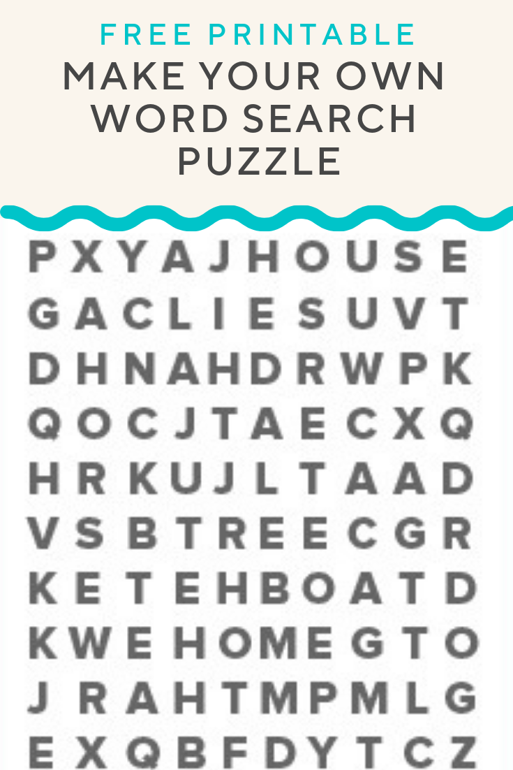 Word Search Puzzle Generator Create And Print Fully Customizable