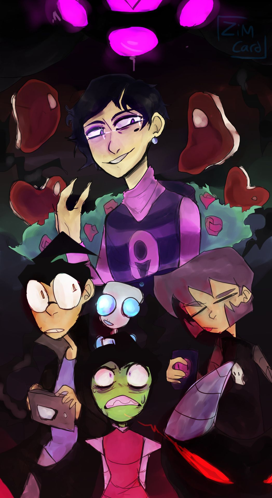 You know that new girl? Yeah, she's Hideous. Invader zim