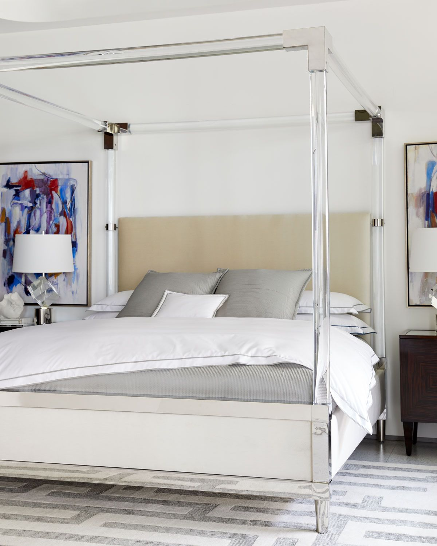 chrome canopy bed king on bernhardt rayleigh acrylic king canopy bed canopy bedroom canopy bed frame trendy bedroom pinterest