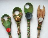 Wooden Spoon Wand for spying on fairy folk and making magic