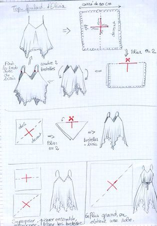 Top From An Antique Linen Square Piece Of Fabric Or Other Upcycle Embroidery Dress Pattern Summer Dresses Diy Sewing Patterns