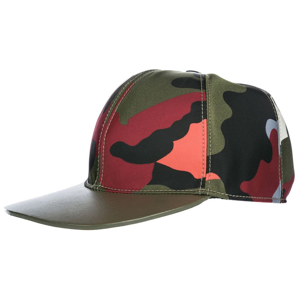ac6bec472a5e0 $236.84 VALENTINO ADJUSTABLE MEN'S HAT BASEBALL CAP NEW GREEN C56 ...