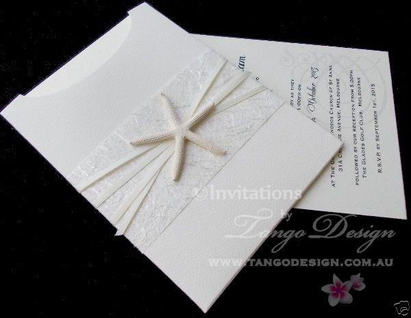 Details About DIY Starfish Wedding Invitations