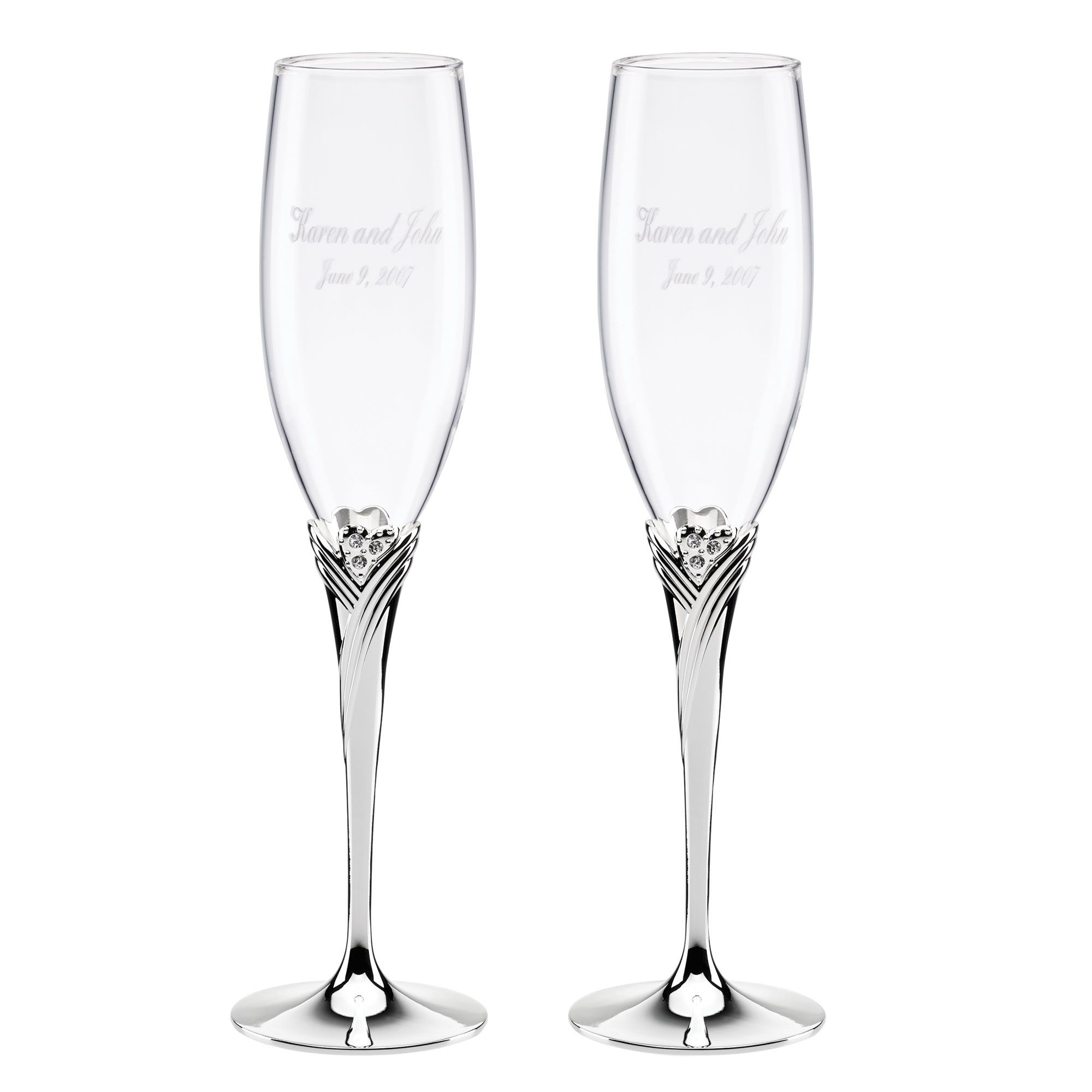 Lenox Sweet Harmony Toasting Flutes | #exclusivelyweddings | Because ...