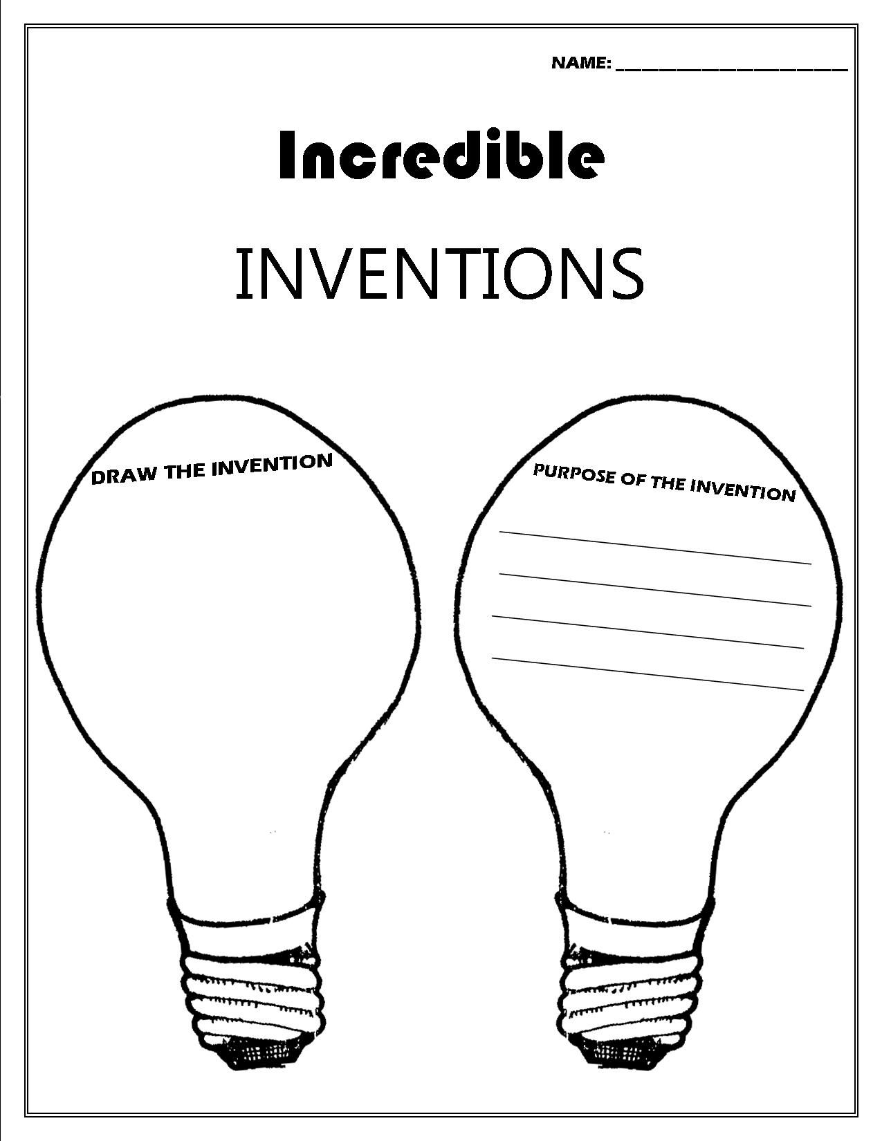 Inventor Convention Worksheet Printable Worksheets Worksheets Inquiry Learning [ 1650 x 1275 Pixel ]