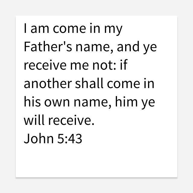 John 5:43