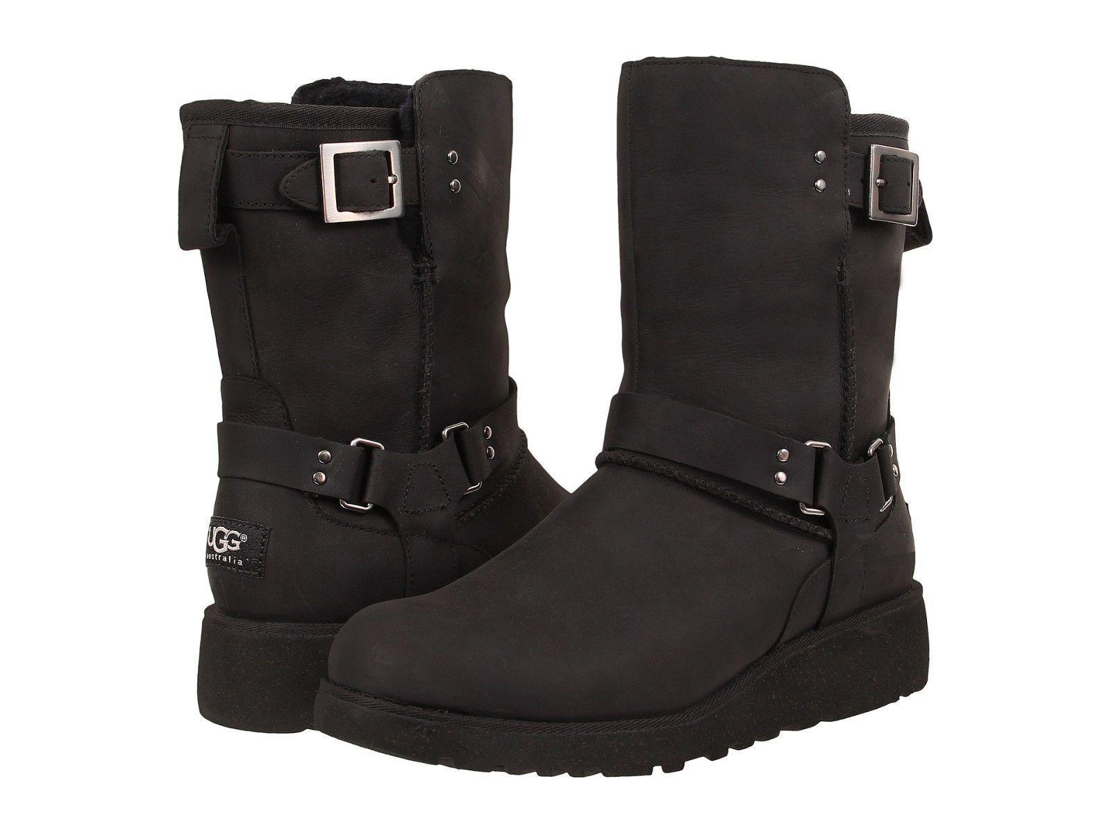 d6942c93ebc Women Ugg Australia Maddox Boot 1009279 Black Leather 100% Authentic ...