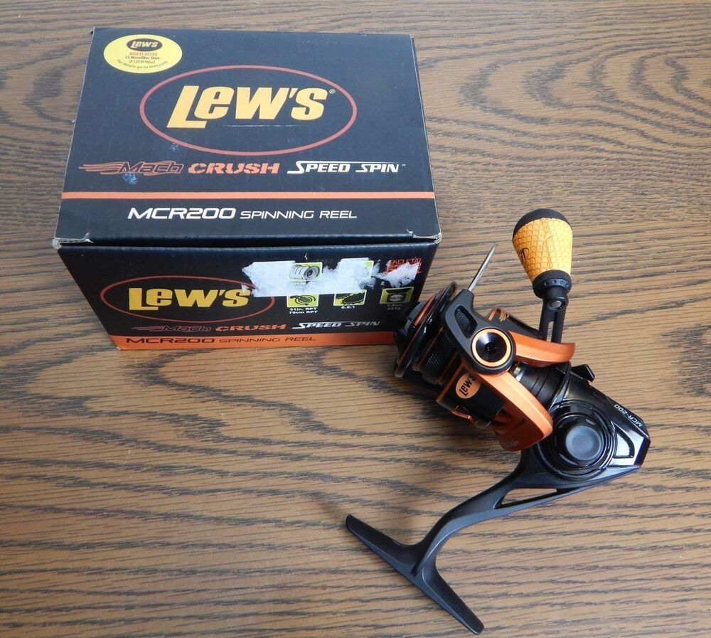 New Lew S Mach Crush Speed Spin Mcr200 Fishing Spinning Reel Lews Spinning Reels Spinning Bass Fishing Rods