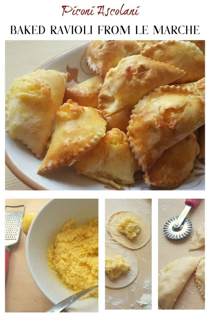 Unlike other types of ravioli, piconi ascolani are baked in the oven and eaten as a snack or as part of a traditional Easter breakfast with boiled eggs and salumi. Normally, these baked ravioli are not eaten hot. #bakedpastarecipes #authenticitalianrecipes was #ravioli #easter #vegetarian #filledpasta @thepastaproject