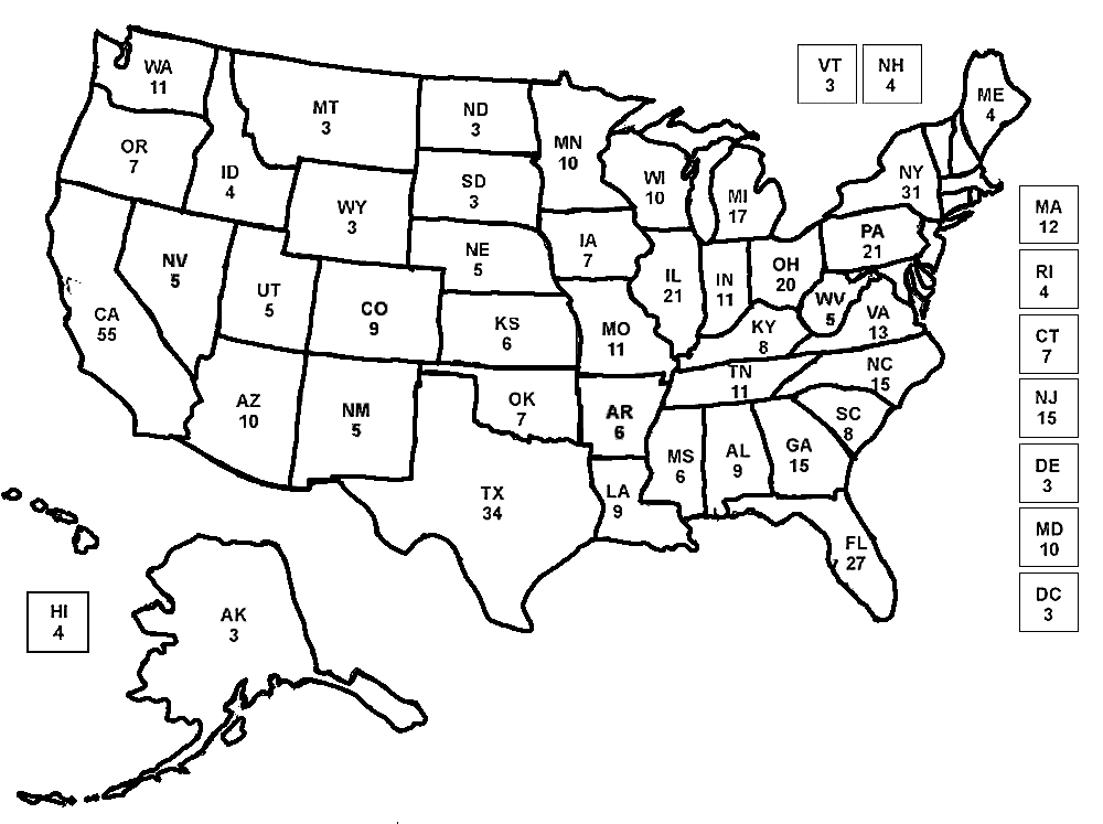 An Electoral Map To Color While Watching Election Returns Flag Coloring Pages Coloring Pages Coloring Pages Inspirational