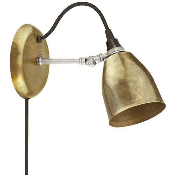 The lovell brass plug in wall sconce 200 liked on polyvore the lovell brass plug in wall sconce 200 liked on polyvore featuring mozeypictures Image collections