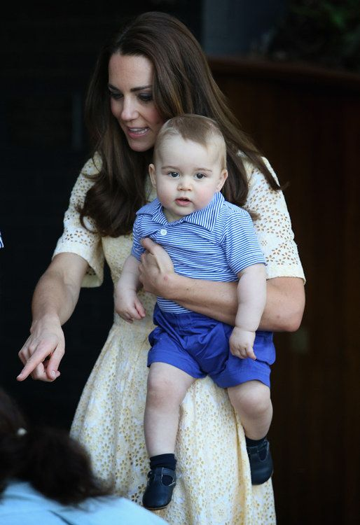 Inside the enclosure he was initially more interested in the photographers. | Prince George Met George The Bilby And It Was Love At First Sight