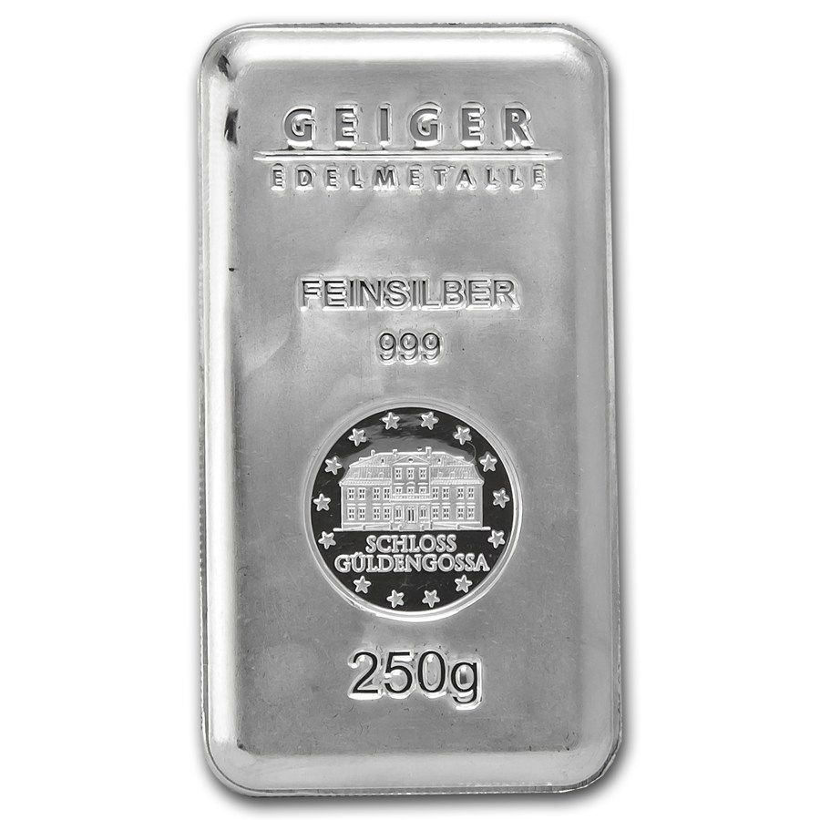 250 Gram Silver Bar Geiger Security Line Series 1 4 Kilo 8 0385 Oz Silver Bars Apmex Silver Bars Buy Gold And Silver Silver Bullion