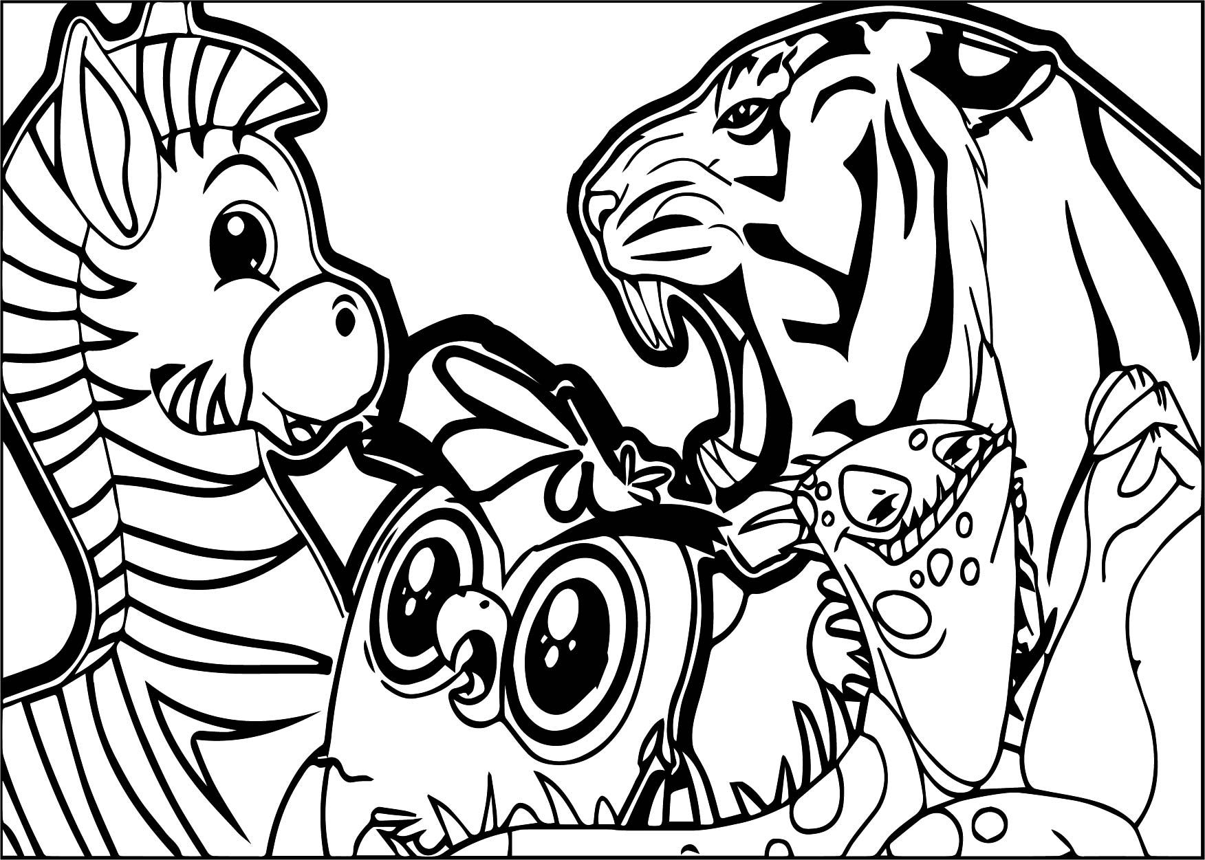Cool abc animal zebra lion coloring page wecoloringpage in