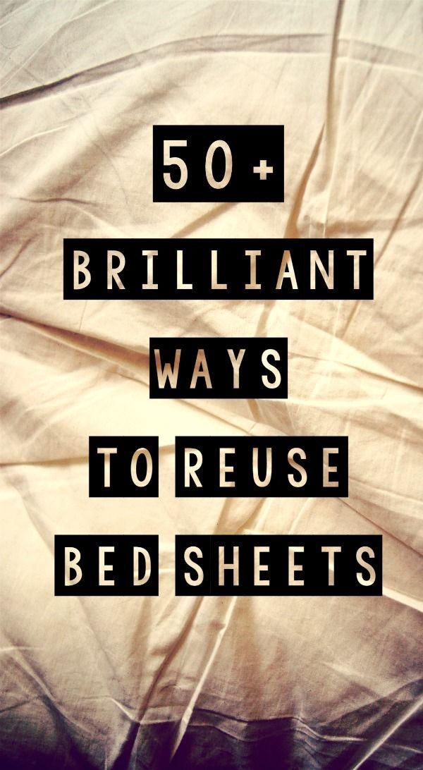 50+ Brilliant Ways to Reuse Bed Sheets frugal living | Diy bed
