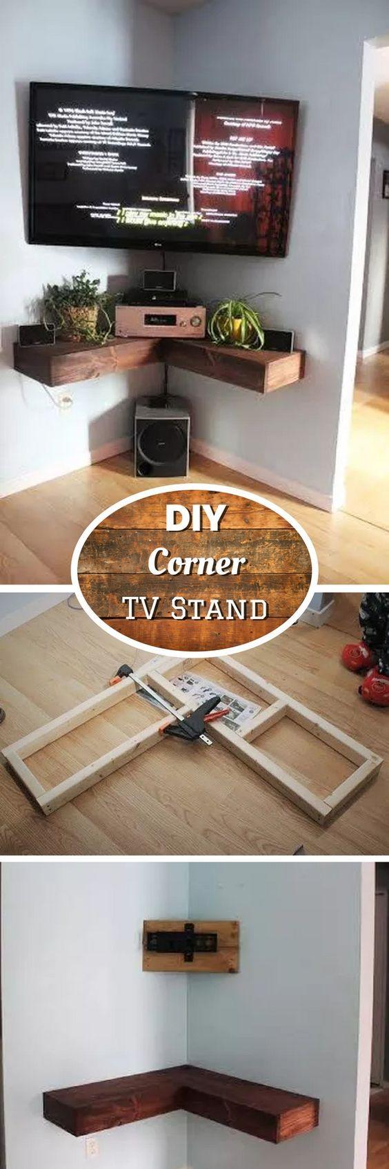 Diy Corner Tv Stand Bedroom Doors Corner Shelf And Corner