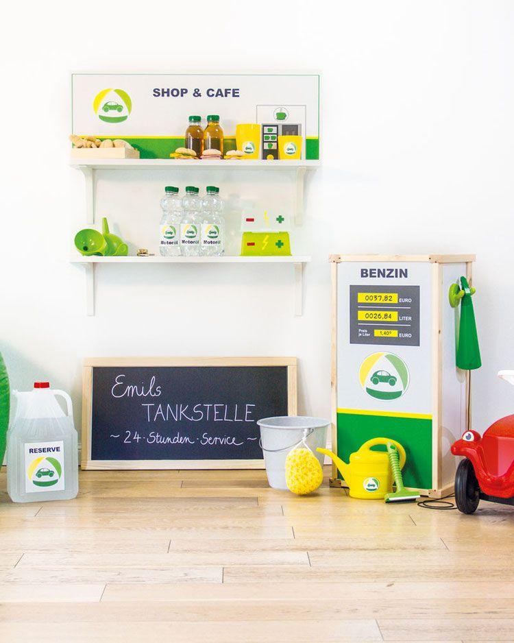 kinder tankstelle emil kids pinterest kinder kaufladen und kinderzimmer. Black Bedroom Furniture Sets. Home Design Ideas