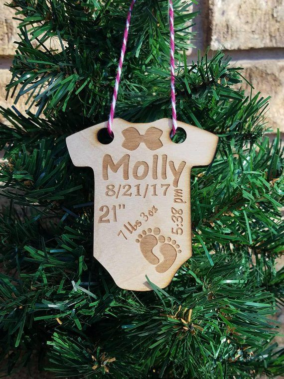 Wooden Girls 1st Christmas ornament customized ornament personalized babys  first ornament babys 1st ornament first ornament newborn baby - Wooden Girls 1st Christmas Ornament Customized Ornament Personalized