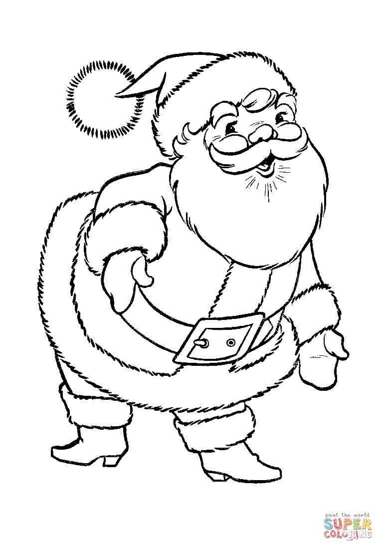 a-great-big-santa-claus-coloring-page.jpg 768×1,104 pixels | Holiday ...