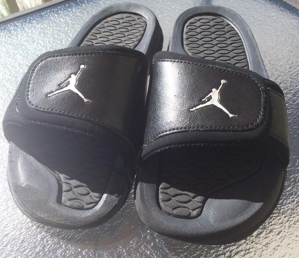 d05175c047fe Grade School Jordan Hydro 2 Slide velcro Sandals 313194-001 BlacK Size 4Y   Jordan  Sandals