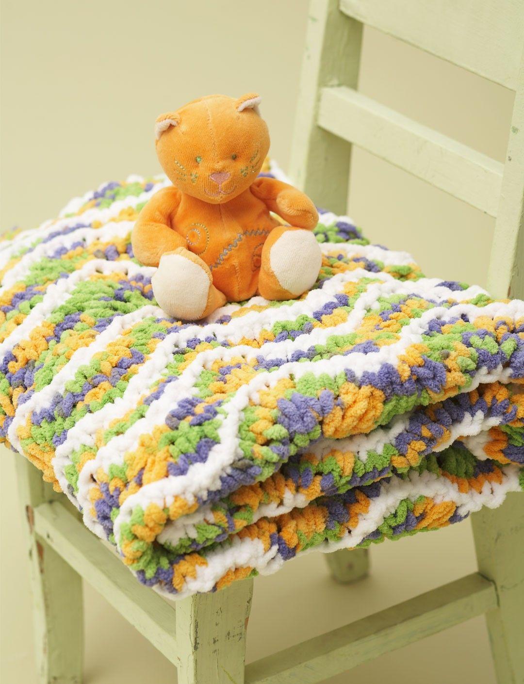 Yarnspirations.com - Bernat Ripple Baby Blanket - Patterns ...
