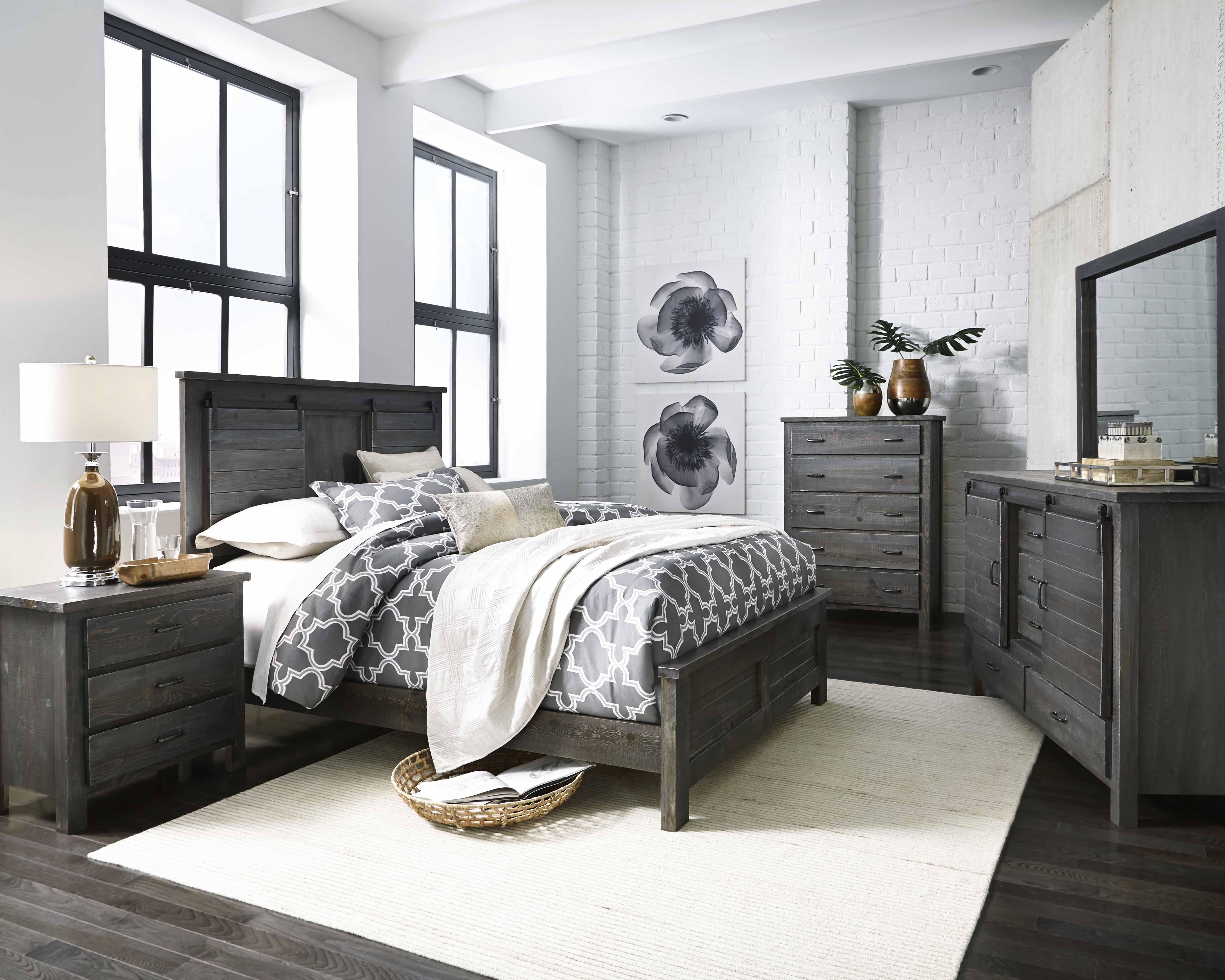 B656 Lucerne Bedroom set, Progressive furniture, Grey